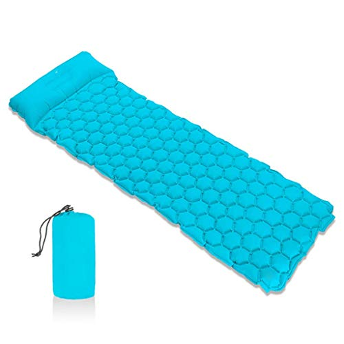 WIVGH Inflatable camping Pad cushions,Inflatable Sleeping Pad, Air Camping Mattress with Pillow Ultralight Moisture-Proof Roll Mat for Backpacking Hiking Traveling Fishing Hammocks