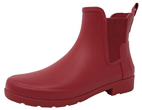 Hunter Women Original Chelsea WFS1017RMA SCT, botas de agua color rojo escarlata, 37