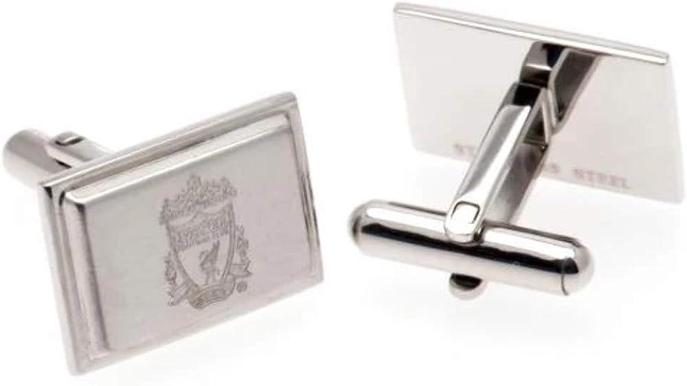 Liverpool FC Official Mens Stainless Steel Football Crest Cufflinks