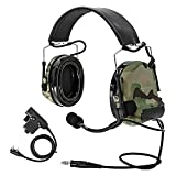 TAC-SKY Tactical Headset Comta II COMTA III Noise Reduction Sound Pick Up for Airsoft Activities Multicam (C2 HEADBAND VERSION)