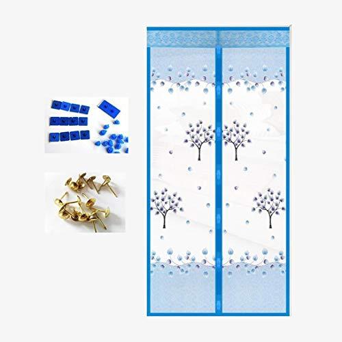 HUASA Magnetische deur Mesh Gordijn, Gedrukt Patroon Ontwerp Deur Gordijn, Sterke Magneet Mesh Gordijn Hiermee lucht te Circuleren terwijl het houden van Bugs buiten, Gemakkelijk passen Deur Grootte tot 70 * 190CM