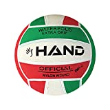 Hand Sport Pallone da Pallanuoto, Extra Grip, Misura 4, Colore Verde/Bianco/Rosso
