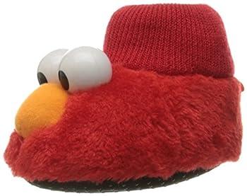 Sesame Street Unisex-Baby ELMO Puppet Slipper Red 5/6 Child US Toddler