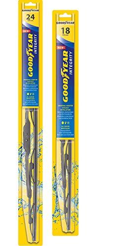 Goodyear Integrity Windshield Wiper Blades, 24 Inch & 18 Inch Set