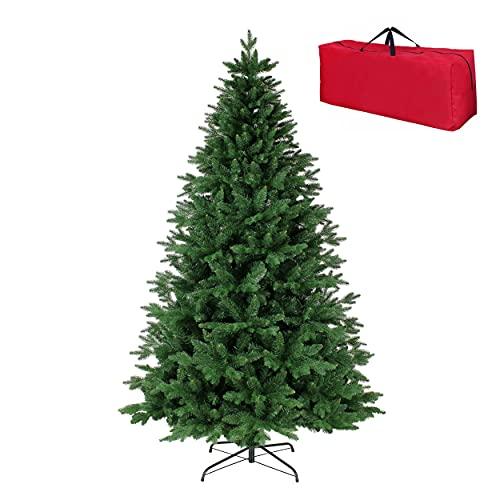 Totò Piccinni Albero di Natale Artificiale BADIA, Folto, Effetto Realistico, Rami a Ombrello, Veloce Montaggio, con Borsone (150 cm)