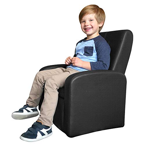 STASH Cute Kids Sofa Chair with Storage Toddler Children Comfy upholstered Recliner for Boys Girls Bedroom Ottoman Mini Small Armchair Play Living Room Toy Storage Modern Folding Home Baby Furniture