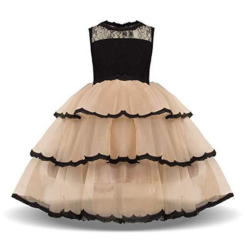 Vestido para Niños Vestidos de Desfile de Princesa de Encaje sin Mangas...