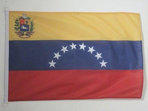 AZ FLAG Bandera Nautica de Venezuela 45x30cm - Pabellón de conveniencia VENEZUELANA 30 x 45 cm Anillos
