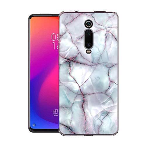 Pnakqil Funda Xiaomi Mi 9T Pro / 9T, Silicona Transparente con Dibujos Diseño Slim TPU Antigolpes Ultrafina de Protector Piel Case Cover Cárcasa Fundas para Movil Xiaomi 9TPro / 9T, Linea de marmol