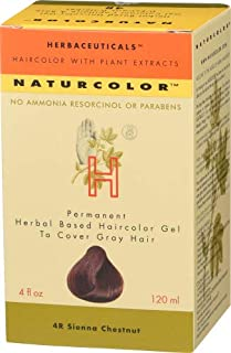 Naturcolor 4R Sienna Chestnut Hair Dyes, 4 Ounce