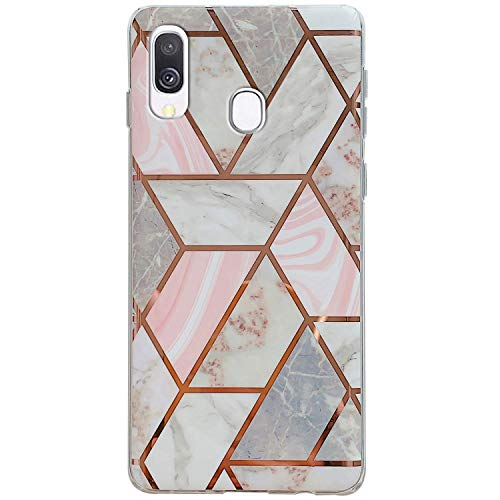 Review Of Herbests Compatible with Samsung Galaxy A40 Marble Case Designed Girls Women Glitter Case ...
