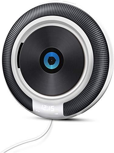 Reproductor de CD Portátil VOKSUN Montado en Pared Bluetooth 4.2+EDR Altavoces Incorporados Radio FM Audio en el Hogar Reproductor de Música MP3 WMA USB CD Bluetooth AUX 3,5 mm Regalo para Familia