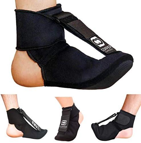 Copper Compression Plantar Fasciitis Night Splint Sock Planter Fasciitis Support Dorsal Drop product image