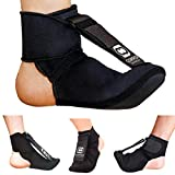 Copper Compression Plantar Fasciitis Night Splint Sock. Planter Fasciitis Support Dorsal Drop Foot Brace for Right or Left Foot. Soft Stretching Boot Splints for Feet, Sleep, Recovery Socks, Braces