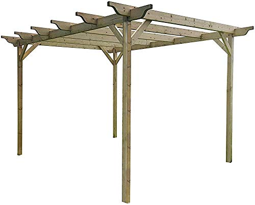Talladas kits del gazebo gazebo de jardín de madera pérgola kits, 1.8m 1.8mx,Green