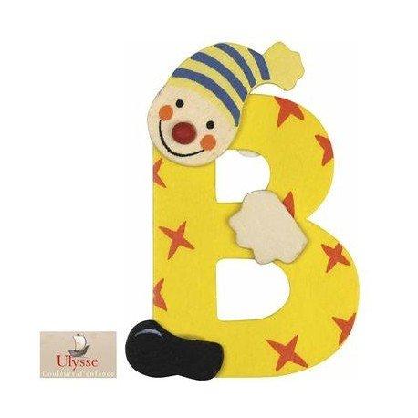 Ulysse - Lettre Prénom en bois décoration murale Personnaliser la chambre d'enfant bébé - B