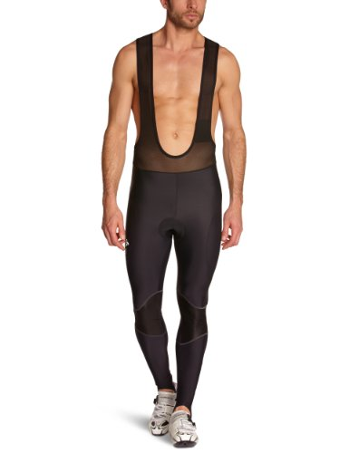 Odlo Herren Sporthose lang Tights Long with Suspenders Cushion, Black, XXL, 421342