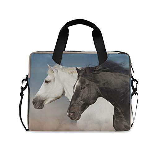 CCDMJ Laptop Case Wild Animal Horse Laptops Sleeve Shoulder Messenger Bag Briefcase Notebook Computer Tablet Bags with Strap Handle for Women Man Boys Girls 16 Inch