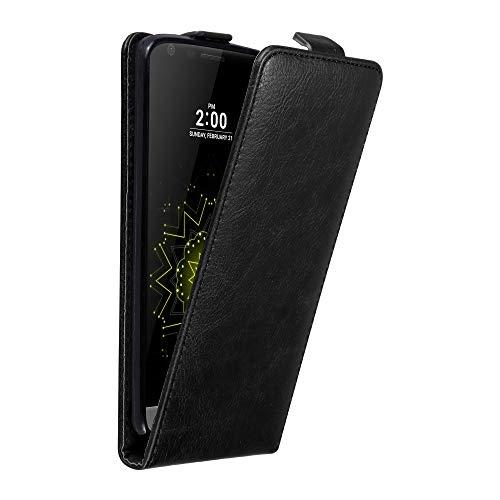 Cadorabo Hülle für LG G5 in Nacht SCHWARZ - Handyhülle im Flip Design mit Magnetverschluss - Hülle Cover Schutzhülle Etui Tasche Book Klapp Style
