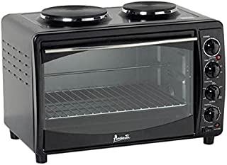 Avanti MKB42B Full Range Temperature Control, Multi-Function Counter Top Convection Oven with Duel Burner Cook-Top, Rotisserie, in Black