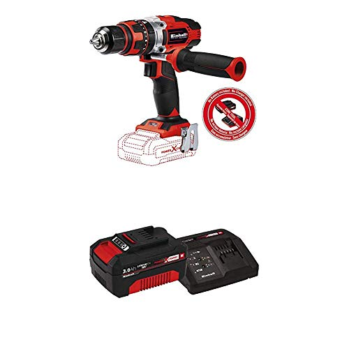 Einhell TE-CD Power X-Change 18-Volt Cordless 1/2-Inch, 390 Inch-Lbs, MAX 1500 RPM, Impact Hammer Drill/Driver w/ 21+1+1 Torque Settings, LED, 2 Speed Gearing, Kit (w/ 3.0-Ah Battery + Fast Charger)