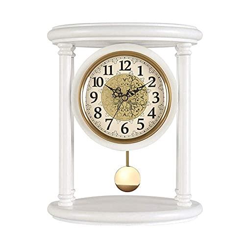 MingXinJia Relojes de Cabecera para el Hogar Reloj de Mesa d