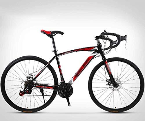 N\A ZGGYA Bici Ibrida per Adulti, Freni a Disco a Doppio Disco, Telaio in Acciaio ad Alta Carbonio, Bici da 26 Pollici, Bicicletta a 24 velocità, Road Bici da Corsa, Mountain Bike