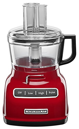 KitchenAid KFP0722ER 7-Cup Food Processor with Exact Slice System - Empire Red (Renewed)