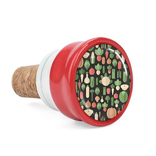 Verse biologische plantaardige verse biologische plantaardige wijn kurk wijnfles stoppen keramische plug voor wijn liefhebber geschenken, bar, keuken, vakantie feest, bruiloft - houd wijn vers 1,6 inch