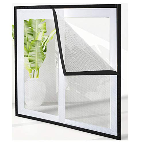HTDG Vliegenhor voor dakramen, zwart, transparant, met vliegengaas, zelfklevend, voor ramen, vliegengaas van aluminium, zonder boren, fijn net