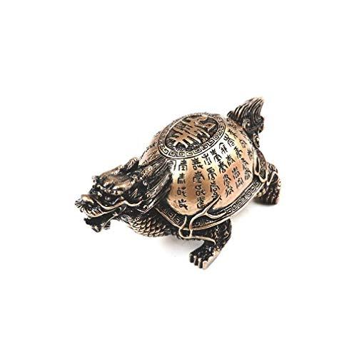 lachineuse Tortuga de dragón Estilo Marfil – Suerte, éxito y protección, Dorado
