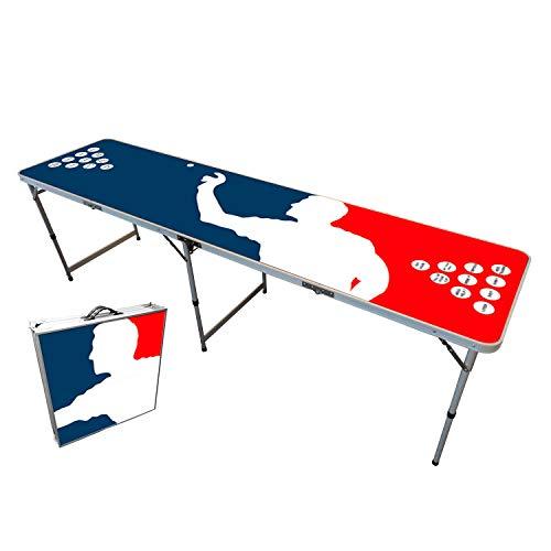 Offizieller Player Beer Pong Tisch | Premium Qualität | Offizielle Wettkampfmaße | Beer Pong Table | Kratz und Wassergeschützt | Stabil | Partyspiele | Trinkspiele | House Party | 100% Spaß