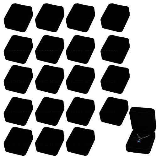 [elrin] アクセサリー ギフトボックス ラッピング ギフト 包装 箱 ラッピングボックス ジュエル ボックス パッケージ 20個セット (ネックレスボックス)
