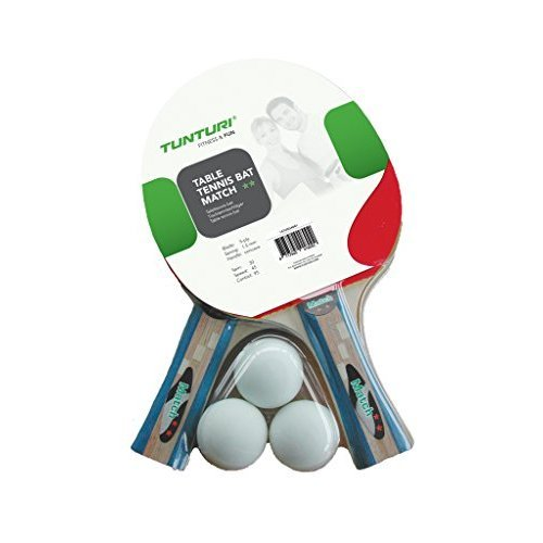 Tunturi Unisex's Match Table Tennis Set Bats and Balls-Multicoloured, one size