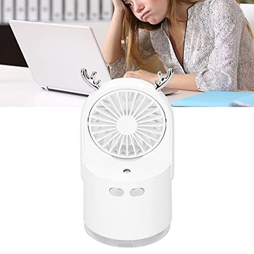 Ventilador de carregamento de spray USB, Ventilador de borrifo Ângulo de fornecimento de ar ajustável com grande quantidade de spray fino para escritório para casa(Glacier White)