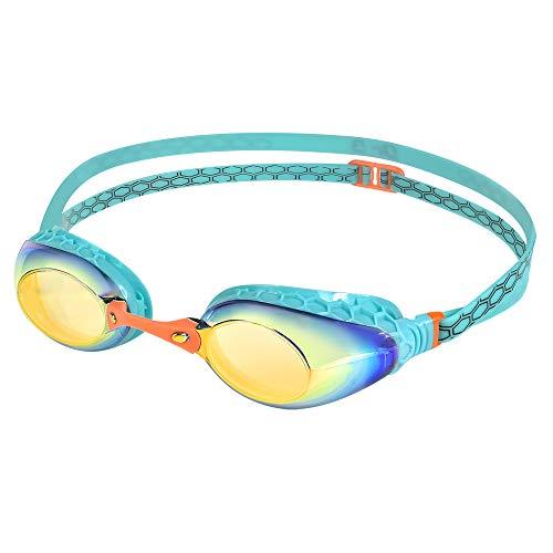 Dr.B Barracuda Optical Swim Goggle F935 - Honeycomb-Structured Gaskets Mirror Corrective Lenses Anti-Fog UV Protection Comfortable No Leak Easy Adjusting for Adults Women Ladies #93590 (-2.0) -  BARRACUDA INTERNATIONAL