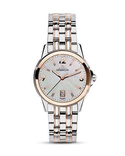 Michel Herbelin Unisex Erwachsene Analog Uhr mit Edelstahl Armband 14250/BTR19
