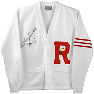 John Travolta Autographed Grease Rydell Letterman Sweater with Danny Inscription