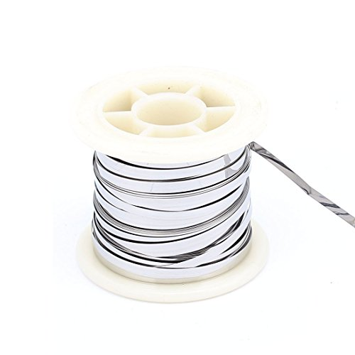 uxcell A16030100ux0542 7.5M 24.6Ft 0.2x3mm Nichrome Flat Heater Wire for Heating Elements