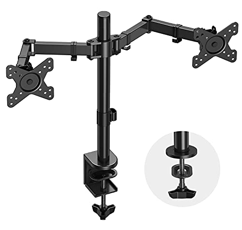 """Dual Monitor Stand Mount for 13 to 27"""" Screens Only $12.60 (Retail $31.99)"""