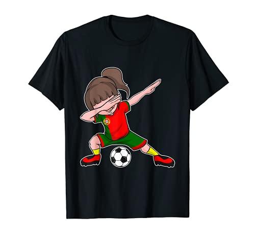 Fußball Portugal Trikot Mädchen - portugiesische Flagge - T-Shirt