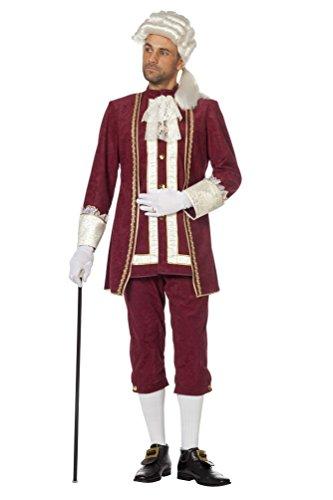 Karneval-Klamotten Rokoko Kostüm Herren Barock Kostüm Karneval Renaissance Marquis weinrot...