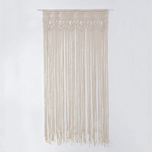 QZHIJIA Makramee Wandbehang, handgewebte Makramee Tür Vorhang böhmische Tapisserie, für Raumteiler Fenstertür Vorhänge Hochzeit Hintergrund Wohnkultur (90x 180cm)
