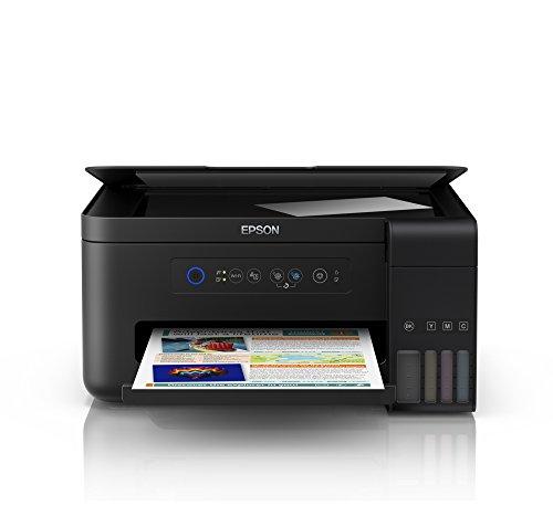 Epson EcoTank ET-2700 nachfüllbares 3-in-1 Tintenstrahl Multifunktionsgerät (Kopierer, Scanner, Drucker, DIN A4, WiFi, USB 2.0), großer Tintentank, hohe Reichweite, niedrige Seitenkosten, schwarz