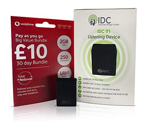 IDC © Él1 escucha sala Bug y seguridad dispositivo - pequeño discreto e imperceptibles - escuchar a sonidos/conversaciones desde cualquier lugar - sin contrato u oculta coste - Simple para usar -