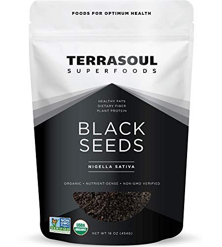 Terrasoul Superfoods Organic Black Cumin Seeds (Nigella Sativa), 1 Lb – Digestive Health | Immunity