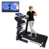 Fitkit FT200M (4.5HP Peak) DC-MotorisedTreadmill ( Max Speed:16km/hr, Max Weight: 110 Kg ) With Free home installation and Connected Live interactive Sessions by Onefitplus