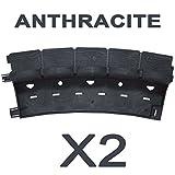 greenparck - SE225A - Lot de 2 Bordures - Vendu également par Lot de 4 et 8 - en résine Composite Anthracite - Agrafes Non comprises