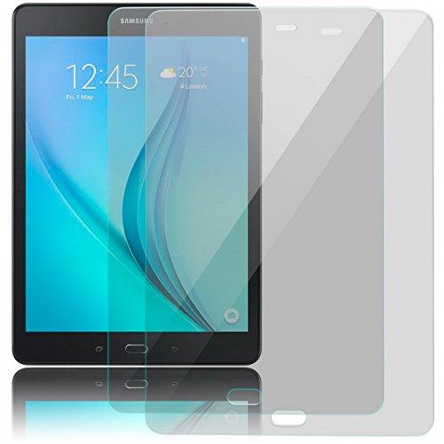 zanasta Displayschutz Folie kompatibel mit Samsung Galaxy Tab A 9.7 (SM-T550N SM-T555) aus Gehärtetem Glas, 2 Stück Klar