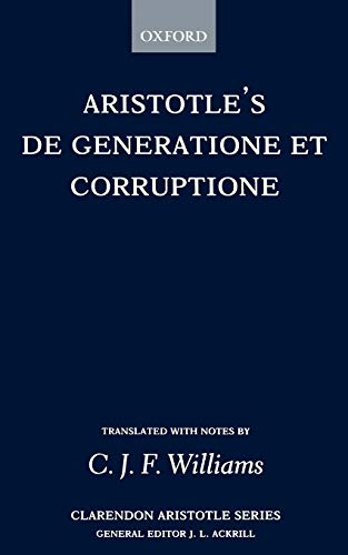Download De Generatione et Corruptione (Clarendon Aristotle Series) 0198720637